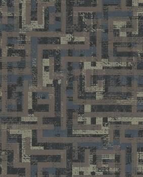 Siroc Eijffinger 55-376013 braun Muster glänzend Vlies-Tapete
