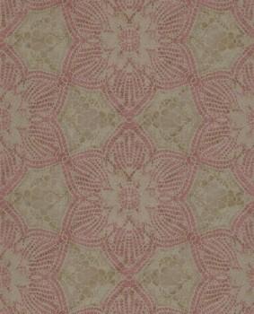55-376054 Eijffinger Siroc gold rot glänzend Blumen Vlies-Tapete