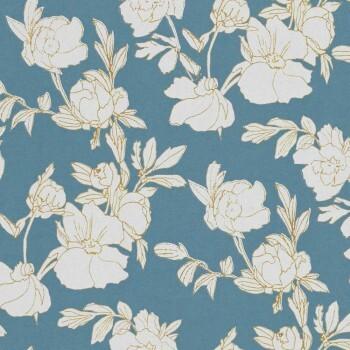 Türkis-Blau Blumen Beige Gold 62-SPI230206 Tenue de Ville SPICE