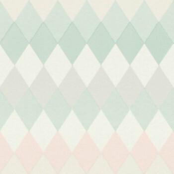 Rasch Textil Boho Chic 23-148679 Vliestapete rosa grün Karomuster