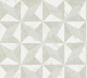 Vliestapete AS Titanium 2 8-36001-3 creme-weiß glänzend grafisches Muster