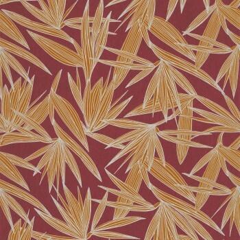 Tapete Palmenblätter Dunkelrot 48-73960650 Casamance - Portfolio