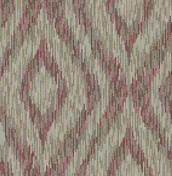 Rasch Textil 23-024220 Gravity Vliestapete rot Streifen Retro
