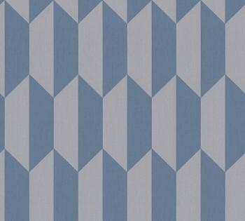 34900-2, 349002 Vlies Tapete Björn AS Creation Rauten blau-grau