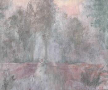 Wandbild Grau-Grün Rosa Waschung Tenue de Ville ODE 62-ODED191210