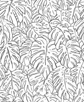 Palmenblätter Tapete Altrosa Glanz Tenue de Ville SPICE 62-SPI230312