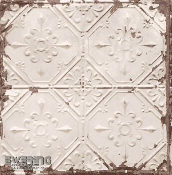 23-022332 Reclaimed Rasch Textil creme Muster Vlies-Tapete Rost