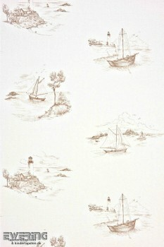 36-MRN25071440 Casadeco - Marina Texdecor creme-weiß Boote Vlies