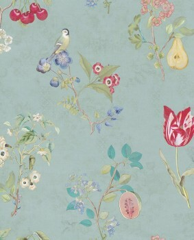 Eijffinger PIP Studio 55-375022, Vliestapete hellblau Blumenmuster