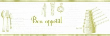 Caselio - Bon Appetit Texdecor Borte 36-BAP68477003 grün Vlies Küche