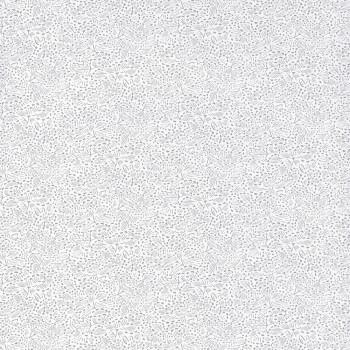 Vliestapete Blumen Grau Weiß
