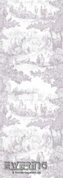 36-CHT24235103 Casadeco - Chantilly lila Toile de Jouy Wandbild