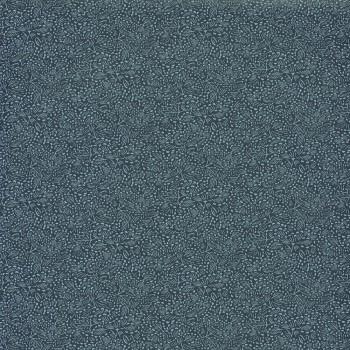 Blumenmuster Blau Vliestapete