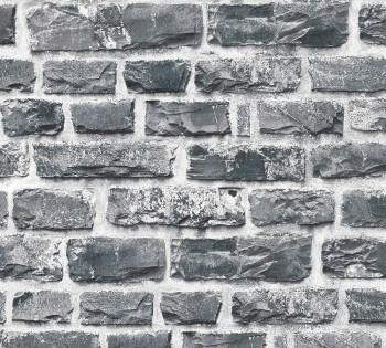 8-36140-4, 361404 AS Creation Neue Bude 2.0 Mauer dunkel-grau Vliestapete