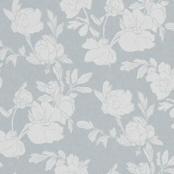 Blumentapete Nebelgrau Silber 62-SPI230226 Tenue de Ville SPICE