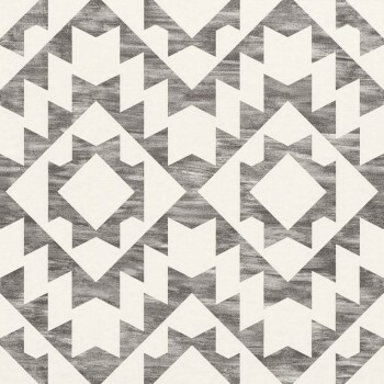 23-148677 Boho Chic Rasch Textil Mustertapete anthrazit eckig