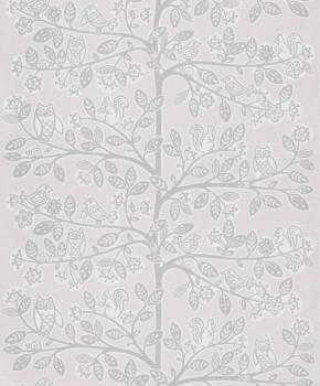 Baum Beige Vlies-Tapete