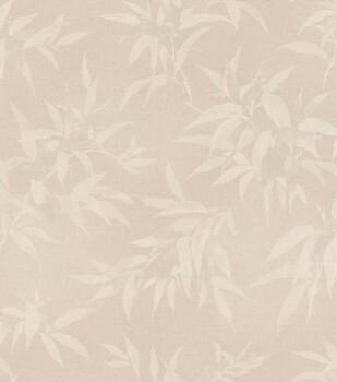 Vliestapete Beige Blätter Muster Rasch Kimono 409758