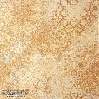 Tapeten Caselio - Metaphore 36-MTE65562020 gold-braun Fliesen