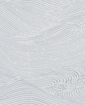 55-386534 Eijffinger Enso Vliestapete Wellen grau silber