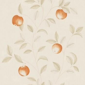 Caselio - Bon Appetit Texdecor Vliestapete 36-BAP68403010 Äpfel orange