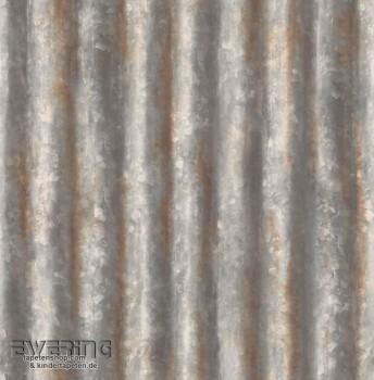 Rasch Textil Reclaimed 23-022333 grau Rost Vliestapete Glanz
