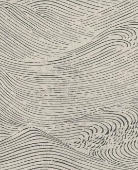 Eijffinger Enso 55-386531 Vliestapete Wellen Perlmutt