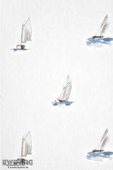 36-MRN25066119 Casadeco - Marina Texdecor creme-weiß Boote Vlies