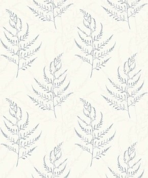 Grandeco Nordic Elegance 37-NG2295 Vlies Tapete blau creme Blätter