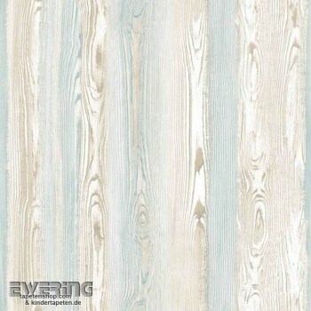 23-148625 Cabana Rasch Textil Tapete Holzoptik mint-grün braun