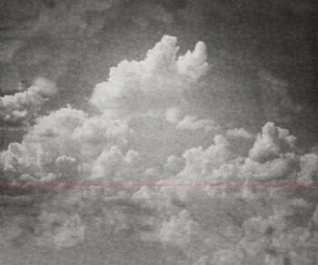 Wolken Grau Wandbild Strich Rot Tenue de Ville BALSAM 62-BLD201506