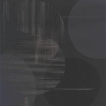 Tapete schwarz Kreise Casadeco - Vision 36-VISI83679510