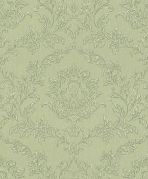 Rasch Textil Velluto 23-074900 Textiltapete grün Wohnzimmer Barock