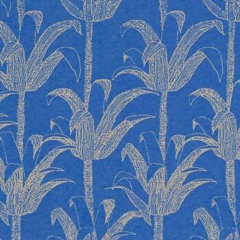 Kobalt-Blau Palmen Tapete Glanz Tenue de Ville SPICE 62-SPI230133