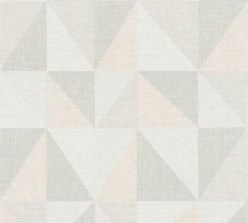 35181-2, 351812 Vlies Tapete Björn AS Creation apricot-grau Dreieck