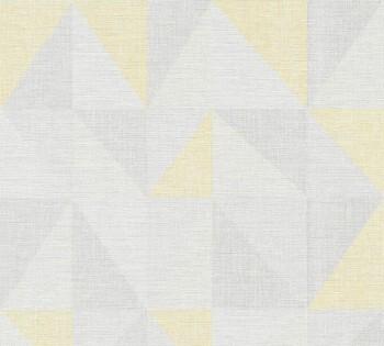 Vliestapete AS Creation Björn 35181-1, 351811 gelb-grau Dreiecke