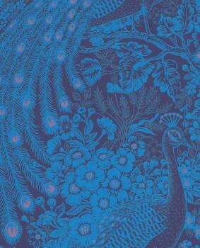 Eijffinger Reflect 55-378006 königs-blau Pfau glänzend Vlies Tapete