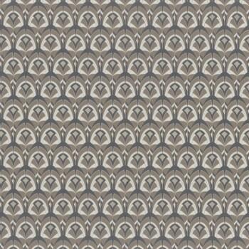 Tapete braun grafische Muscheln Casamance - Portfolio 48-74000296