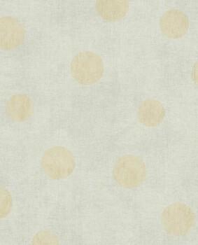 Eijffinger Lino 55-379042 Vliestapete grau Mint grau Punkte gold