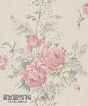 23-077536 Cassata Rasch Textil Textiltapete creme Blumen-Ranken