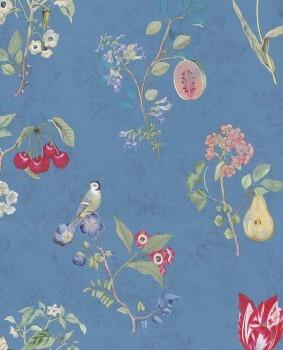 Eijffinger PIP Studio 55-375025, Vliestapete blau Blumenmuster
