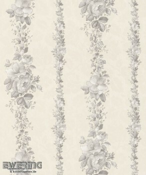 23-362397 Strictly Stripes creme Blumenranken Vinyltapete