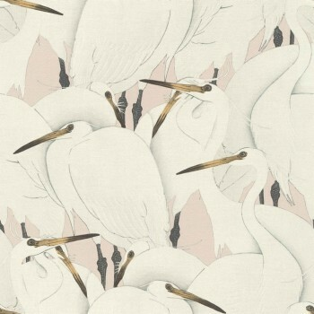 Tapete Vlies Vögel Muster Rasch Kimono 409536