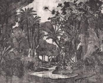 Natur Wandbild Dschungel Grau 62-ODED191401 Tenue de Ville ODE