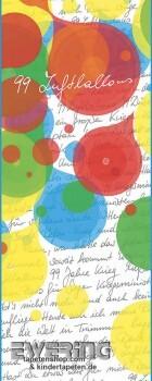 6-46100 Marburg Nena 99 Luftballons Text weiß rot bunt Wandbild